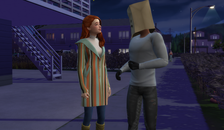 Sims 4 paper bag head