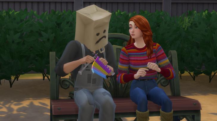 Sims 4 teach to knit
