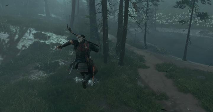 Ghost of Tsushima - Jin jumps