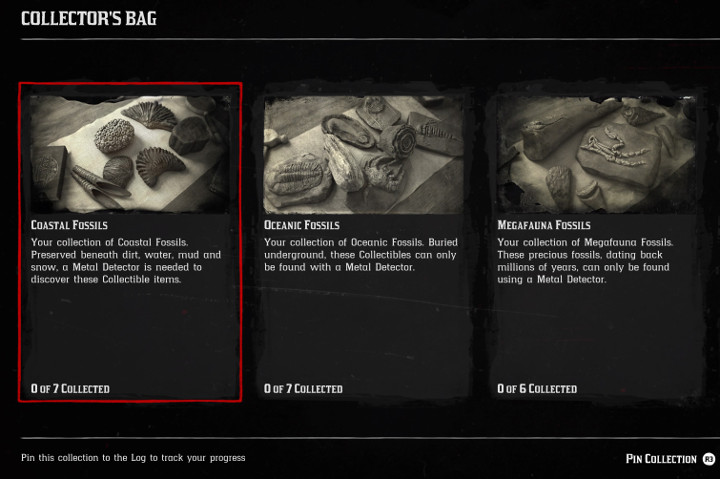 Red Dead Online Fossils