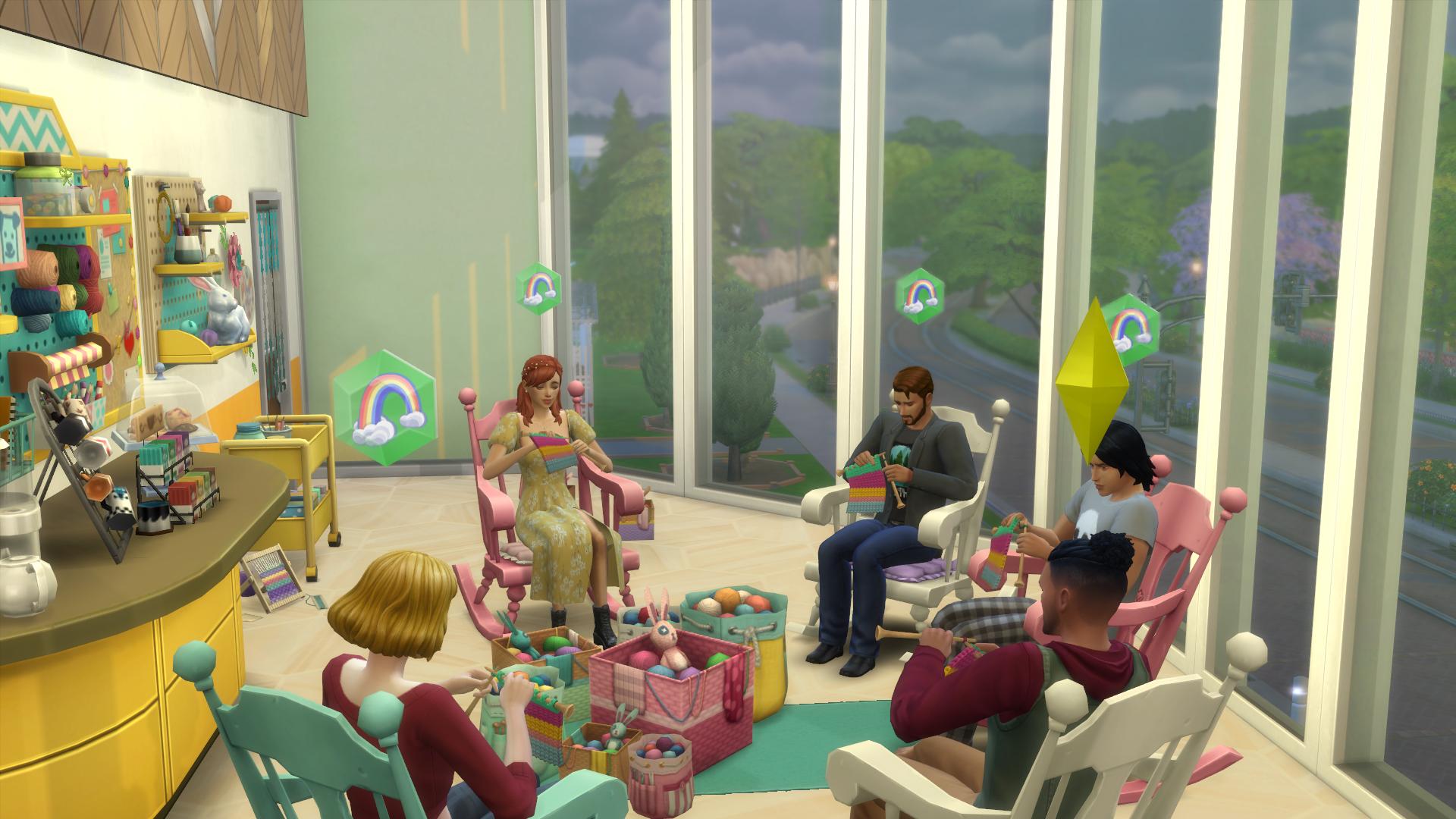 Sims 4 knitting club