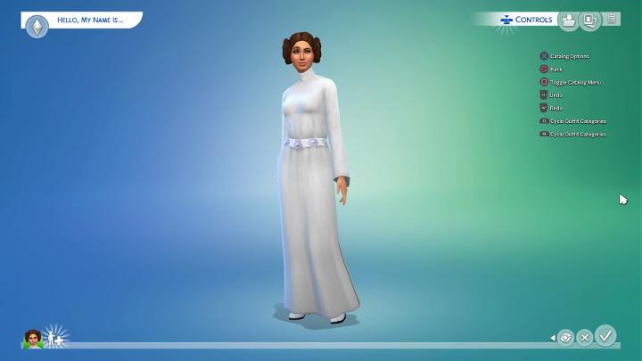 Sims 4 - Princess Leia