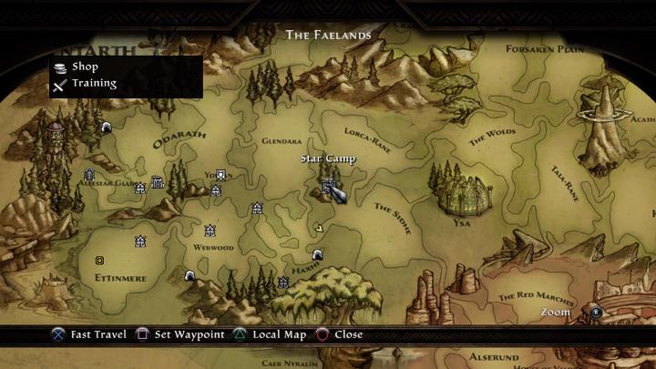 Kingdoms of Amalur: Re-Reckoning - Star Camp Map