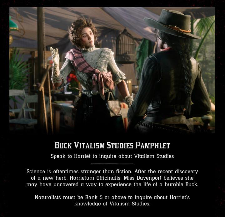 Red Dead Online - Buck Vitalism Studies