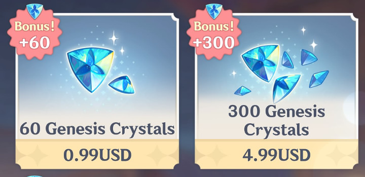 Genshin Impact - Genesis Crystals