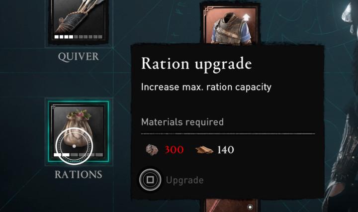 Assassin's Creed Valhalla - Ration Upgrade