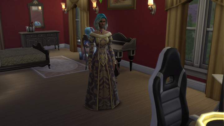 The Sims 4 - Tess in her new dress