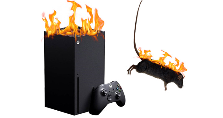 Xbox Series X On Fire