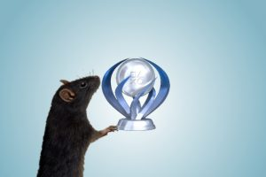 Rat Holding a Platinum Trophy