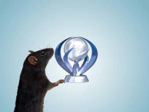 Rat Holding a Platinum Trophy