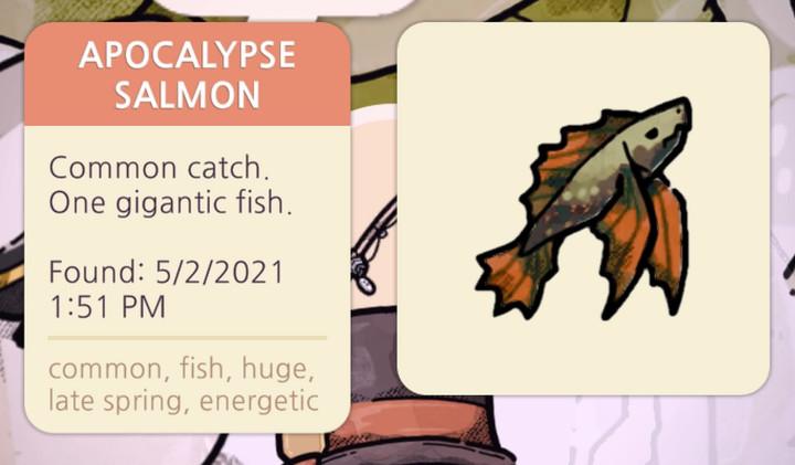 Cozy Grove - Apocalypse Salmon