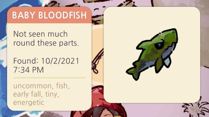 Cozy Grove - Baby Bloodfish