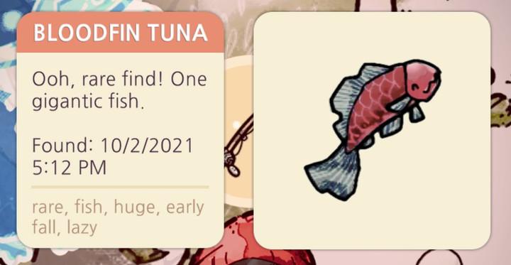 Cozy Grove - Bloodfin Tuna