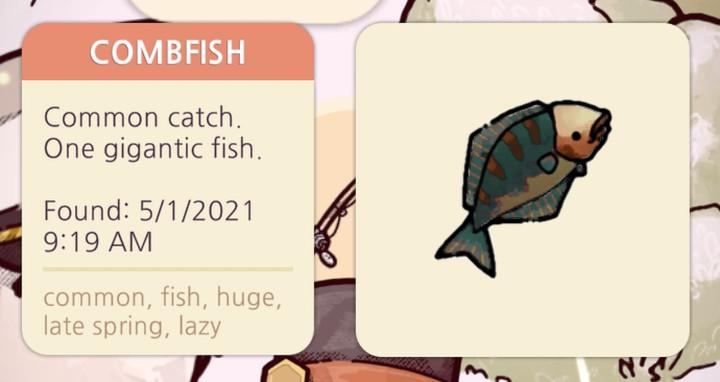 Cozy Grove - Combfish