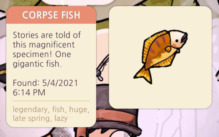 Cozy Grove - Corpse Fish
