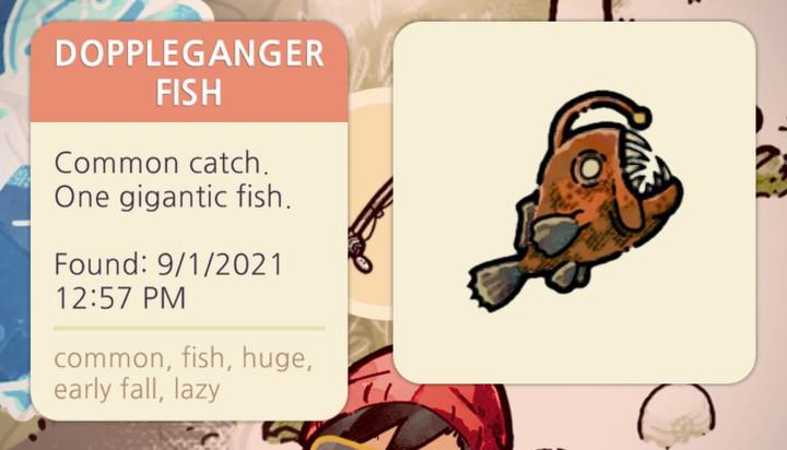 Cozy Grove - Doppleganger Fish