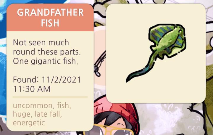 Cozy Grove - Grandfather Fish