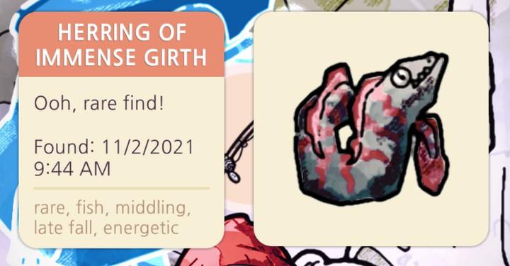 Cozy Grove - Herring of Immense Girth