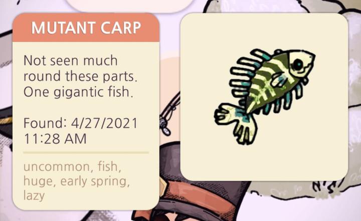 Cozy Grove - Mutant Carp