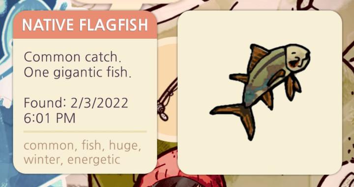 Cozy Grove - Native Flagfish