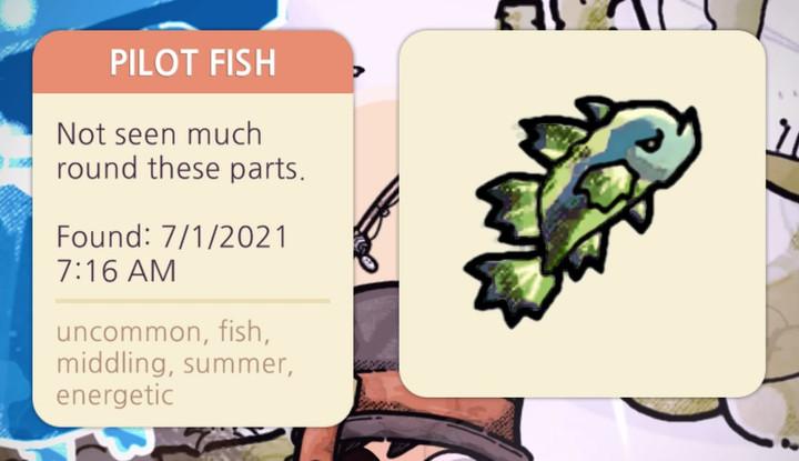 Cozy Grove - Pilot Fish