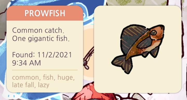 Cozy Grove - Prowfish