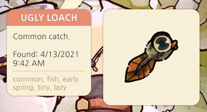 Cozy Grove - Ugly Loach