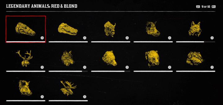 Red Dead Online - Legendary Animals Red and Blond