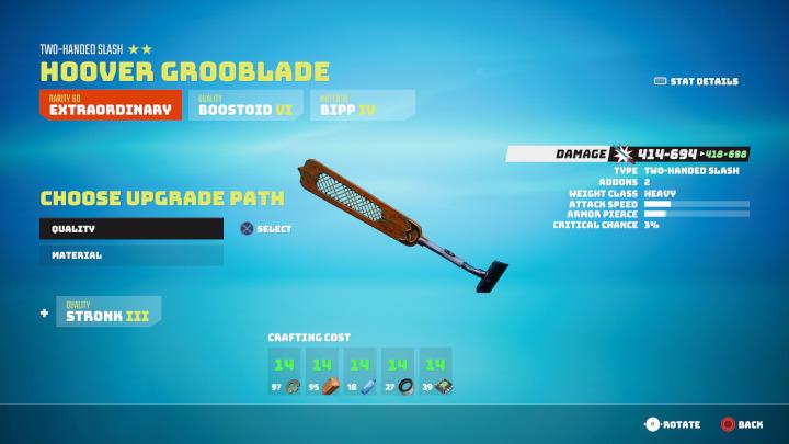 Biomutant - Upgrade Weapon