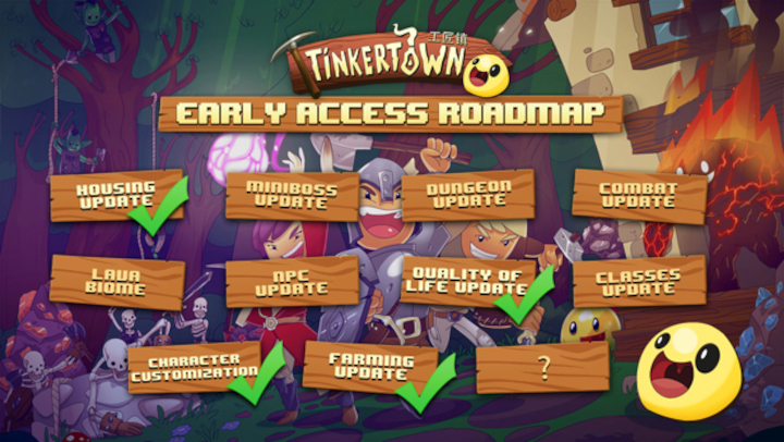 Tinkertown Early Access Roadmap