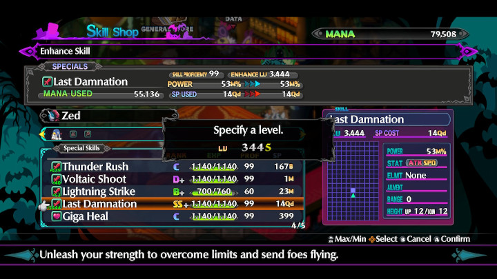 Disgaea 6 - Enhance Skills