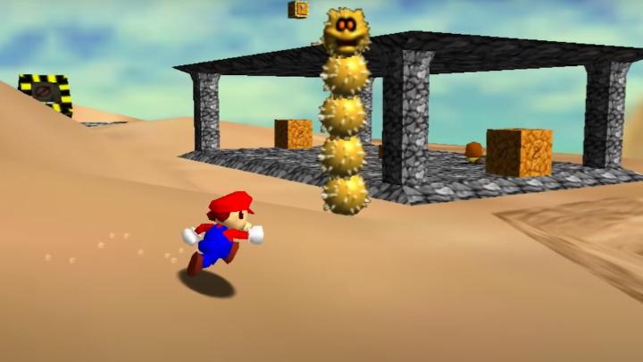 Super Mario 64 - Shifting Sand Land
