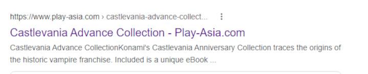 Castlevania Play Asia